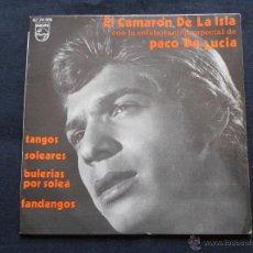 Discos de vinil: EL CAMARON DE LA ISLA CON PACO DE LUCIA // TANGOS - SOLEARES- BULERIAS POR SOLEA - FANDANGOS. Lote 51089998