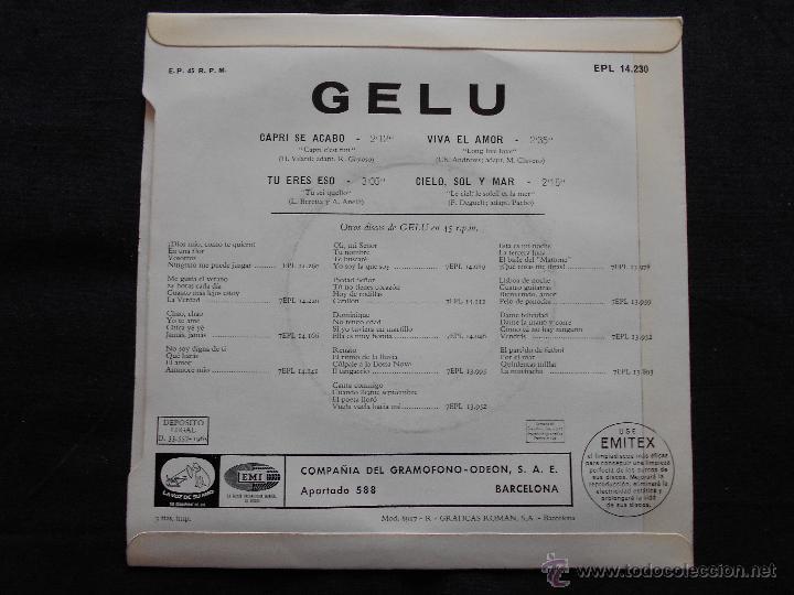 Discos de vinilo: GELU // CAPRI SE ACABO + 3 - Foto 2 - 51090281