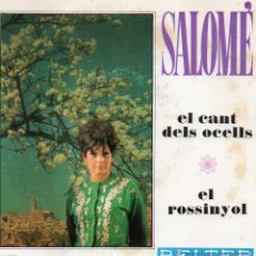 Discos de vinilo: SALOME, SG, EL CANT DELS OCELLS + 1, AÑO 1968. Lote 51090341