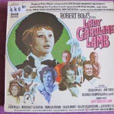 Discos de vinilo: LP - LADY CAROLINE LAMB - MUSIC BY RICHARD RODNEY BENNETT (SPAIN, EMI ODEON 1973). Lote 51091604