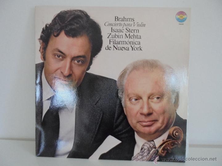 Discos de vinilo: BRAHMS CONCIERTO PARA VIOLIN. ISAAC STERN. ZUBIN MEHTA. FILARMONICA DE NUEVA YORK. MASTER WORKS CBS. - Foto 2 - 51099013