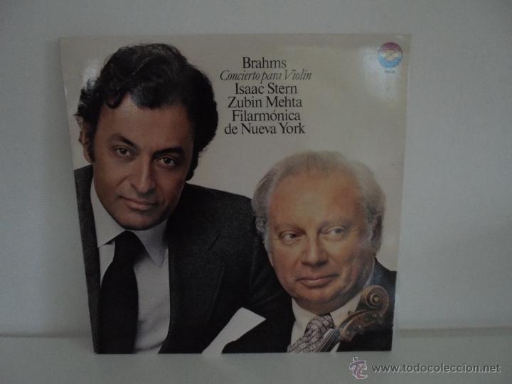 Discos de vinilo: BRAHMS CONCIERTO PARA VIOLIN. ISAAC STERN. ZUBIN MEHTA. FILARMONICA DE NUEVA YORK. MASTER WORKS CBS. - Foto 8 - 51099013