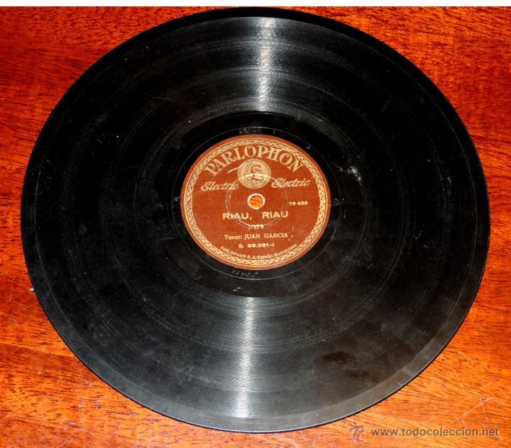 DISCO DE PIZARRA DE JUAN GARCIA, RIAU, RIAU - COMO LA CAÑA DEL TRIGO, LA REGULVIDERA, ED. PARLOPHON, (Música - Discos - Singles Vinilo - Flamenco, Canción española y Cuplé)