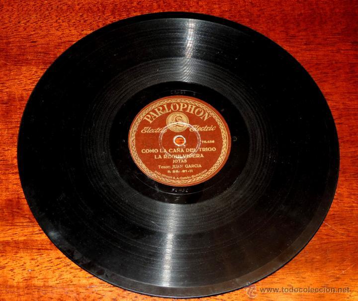 Discos de vinilo: DISCO DE PIZARRA DE JUAN GARCIA, RIAU, RIAU - COMO LA CAÑA DEL TRIGO, LA REGULVIDERA, ED. PARLOPHON, - Foto 2 - 51101135