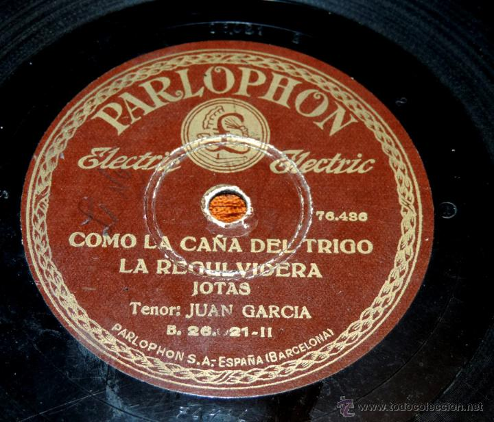 Discos de vinilo: DISCO DE PIZARRA DE JUAN GARCIA, RIAU, RIAU - COMO LA CAÑA DEL TRIGO, LA REGULVIDERA, ED. PARLOPHON, - Foto 3 - 51101135