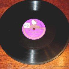 Discos de vinilo: DISCO DE PIZARRA DE CARLITOS GARDEL: GIMIENDO / UN TROPEZÓN. ED. ODEON. TANGO, 200037.. Lote 51101383