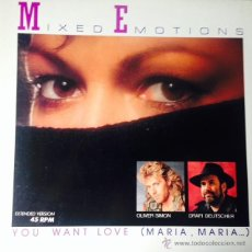 Discos de vinilo: MIXED EMOTIONS - YOU WANT LOVE (MARIA, MARIA) (EXTENDED VERSION) . MAXI SINGLE . 1986 GERMANY. Lote 51104332