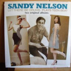 Discos de vinilo: SANDY NELSON --- LET THERE BE DRUMS-PLAYS TEEN BEAT- NUEVO. Lote 51119893