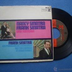 Discos de vinilo: FRANK SINATRA&NANCY SINATRA UNA TONTERIA+3 EP SPAIN 1967 PDELUXE. Lote 51119943