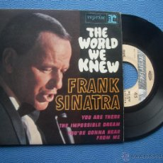 Discos de vinilo: FRANK SINATRA THE WORLD WE KNEW+3 EP FRANCIA PDELUXE. Lote 51119991