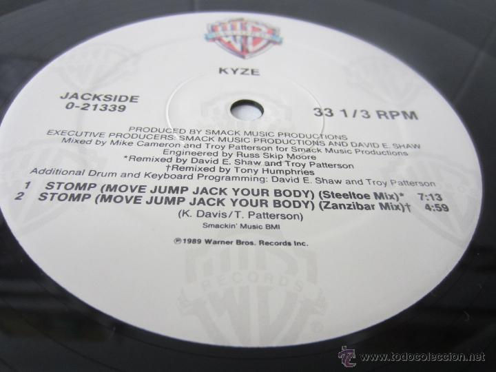 Discos de vinilo: KYZE - STOMP (MOVE JUMP JACK YOUR BODY) (6 VERSIONES) 1989 USA MAXI SINGLE - Foto 4 - 51120076