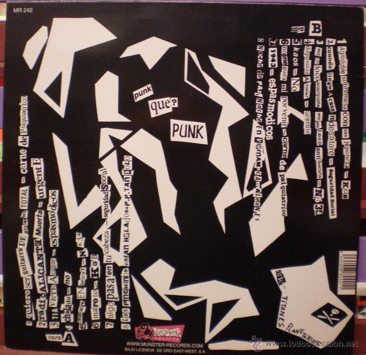 Discos de vinilo: Punk Que? Punk - Munster Records - MR 242 - Incluye la hoja interior - Foto 2 - 51120384