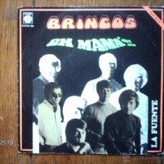 Discos de vinilo: LOS BRINCOS - OH MAMA + LA FUENTE . Lote 51130150