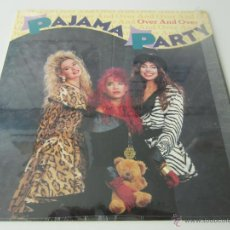 Discos de vinilo: PAJAMA PARTY - OVER AND OVER (5 VERSIONES) 1989 USA MAXI SINGLE. Lote 51130592
