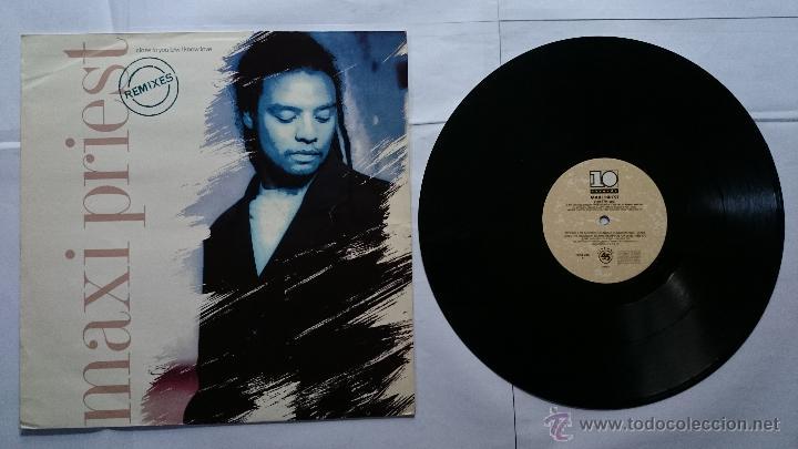 MAXI PRIEST - CLOSE TO YOU (REMIXES - 2 VERS.) / I KNOW LOVE / SURE FIRE LOVE (MAXI UK-ALEMAN 1990) (Música - Discos de Vinilo - Maxi Singles - Rap / Hip Hop)