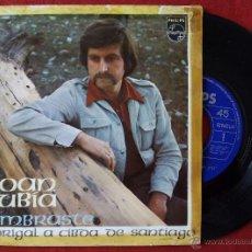 Discos de vinilo: XOAN RUBIA, LEMBRASTE (PHILIPS 1972) SINGLE - MANOLO GAS - GALEGO. Lote 51147071