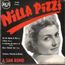 Discos de vinilo: EP NILLA PIZZI ( A SAN REMO ) : NEL BLU DIPINTO DI BLU (MODUGNO) . Lote 51147332