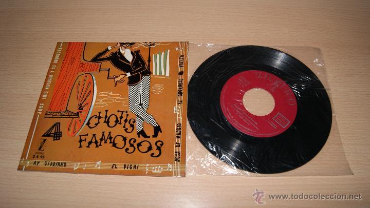 JOSE LUIS NAVARRO Y SU ORQUESTA - CUATRO CHOTIS FAMOSOS - EP (Música - Discos de Vinilo - EPs - Flamenco, Canción española y Cuplé)