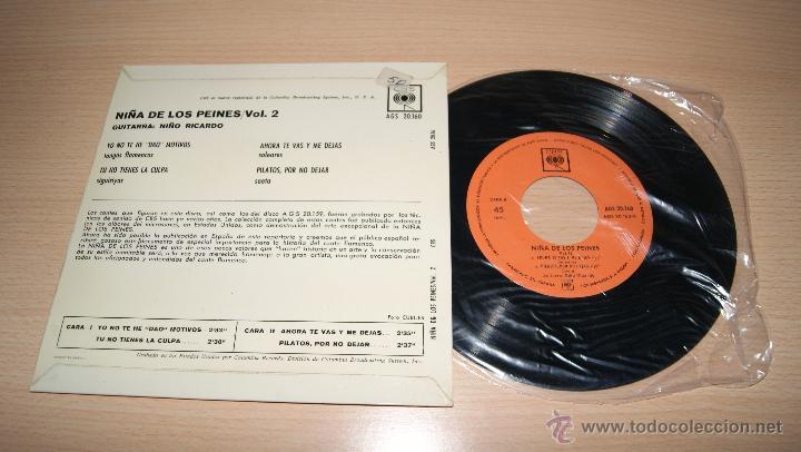Discos de vinilo: LA NIÑA DE LOS PEINES - VOL. Nº 2 CBS - Foto 2 - 51153001