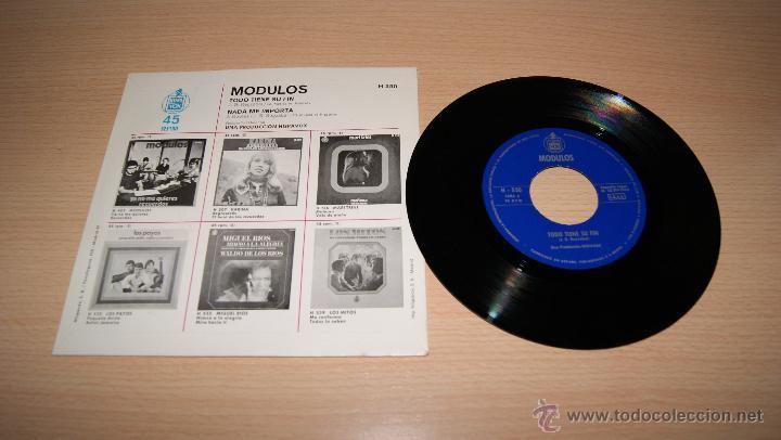 Discos de vinilo: MODULOS - Nada me importa / Todo tiene su fin. 1969 HispaVOX H 550 - Foto 2 - 51153113
