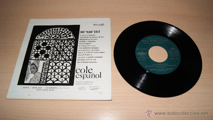 Discos de vinilo: NAT KING COLE ESPAÑOL, CACHITO / MARIA ELENA / LAS MAÑANITAS / QUIZÁS, QUIZÁS, QUIZÁS... 1958 - Foto 2 - 51153366