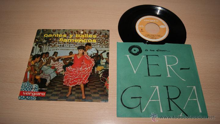CANTES Y BAILES FLAMENCOS - VERGARA BAM 55.1.002-C - 1963 (Música - Discos de Vinilo - EPs - Flamenco, Canción española y Cuplé)