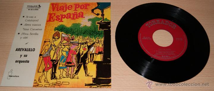 AREVALILLO Y SU ORQUESTA -VIAJE POR ESPAÑA- SELLO TOREADOR 1960 (Música - Discos de Vinilo - EPs - Orquestas)