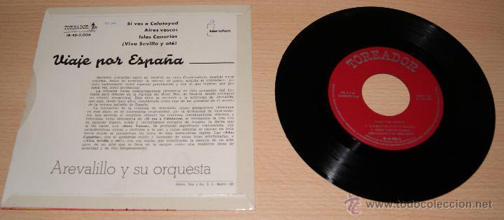 Discos de vinilo: AREVALILLO Y SU ORQUESTA -VIAJE POR ESPAÑA- SELLO TOREADOR 1960 - Foto 2 - 51154632