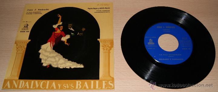 ANDALUCIA Y SUS BAILES - ANOS 50 (Música - Discos de Vinilo - EPs - Flamenco, Canción española y Cuplé)