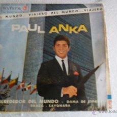 Discos de vinilo: PAUL ANKA - ALREDEDOR DEL MUNDO + 3 EP 1963. Lote 51156314