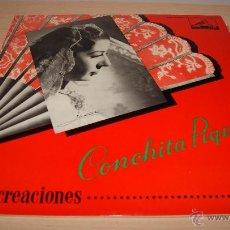Discos de vinilo: CONCHITA PIQUER - 10 CREACIONES - LP LA VOZ DE SU AMO 1958. Lote 51157560