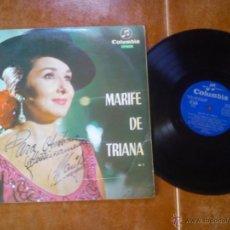 Discos de vinilo: MARIFÉ DE TRIANA - LP FIRMADO Y DEDICADO. Lote 51163638