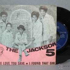 Discos de vinilo: SINGLE. THE LOVE YOU SAVE. +1. THE JACKSON 5. Lote 51166005
