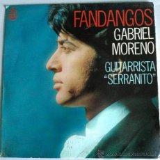 Discos de vinilo: GABRIEL MORENO FANDANGOS. Lote 51167792