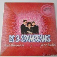Discos de vinilo: LOS 3 SUDAMERICANOS - NUEVAS GRABACIONES DE SALSA Y CUMBIAS POR SUS CREADORES 1990 SPAIN LP. Lote 51169655