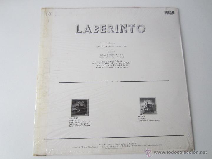 Discos de vinilo: LABERINTO - ¡QUE PASSA! 1983 SPAIN MAXI SINGLE - Foto 2 - 51171259