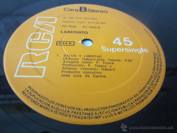 Discos de vinilo: LABERINTO - ¡QUE PASSA! 1983 SPAIN MAXI SINGLE - Foto 4 - 51171259