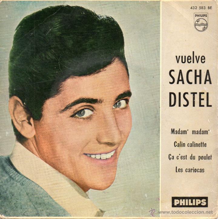 SACHA DISTEL, EP, MADAM, MADAM + 3, AÑO 1961 (Música - Discos de Vinilo - EPs - Canción Francesa e Italiana)