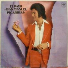 Discos de vinilo: EL PAYO JUAN MANUEL - PICARDIAS (LP CBS 1976). Lote 51188329