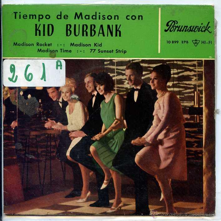 KID BURBANK / MADISON ROCKET / MADISON KID / 77 SUNSET STRIP + 1 (EP1963) (Música - Discos de Vinilo - EPs - Pop - Rock Internacional de los 50 y 60)
