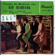 Discos de vinilo: KID BURBANK / MADISON ROCKET / MADISON KID / 77 SUNSET STRIP + 1 (EP1963). Lote 51189362
