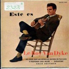 Discos de vinilo: LEROY VAN DYKE / SUGARTIME / CALLE SOLITARIA + 2 (EP 1962). Lote 51189741