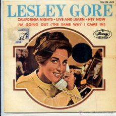 Discos de vinilo: LESLEY GORE / CALIFORNIA NIGHTS / HEY NOW + 2 (EP 1967). Lote 51189809
