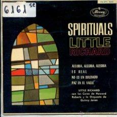 Discos de vinilo: LITTLE RICHARD / ALEGRIA, ALEGRIA, ALEGRIA / PAZ EN EL VALLE + 2 (EP 1962). Lote 51189960