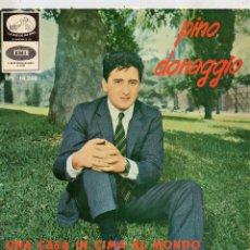 Discos de vinilo: PINO DONAGGIO - FESTIVAL DE SAN REMO, EP, UNA CASA IN CIMA AL MONDO + 3, AÑO 1966. Lote 51191926