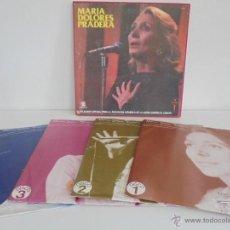 Discos de vinilo: MARIA DOLORES PRADERA. 4 DISCOS FIRMADOS POR LA CANTANTE. AUTOGRAFO DE MARIA DOLORES PRADERA.. Lote 51197434