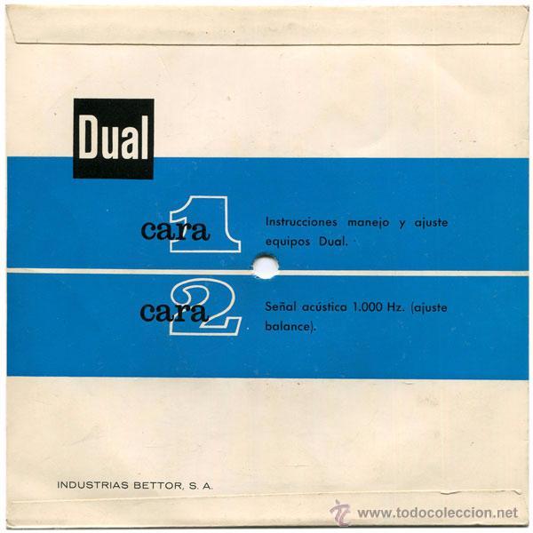 Discos de vinilo: Instrucciones Manejo Y Ajuste Equipos Estereofónicos Dual - Sg Spain - Industrias Bettor, S.A. - Foto 2 - 51198187