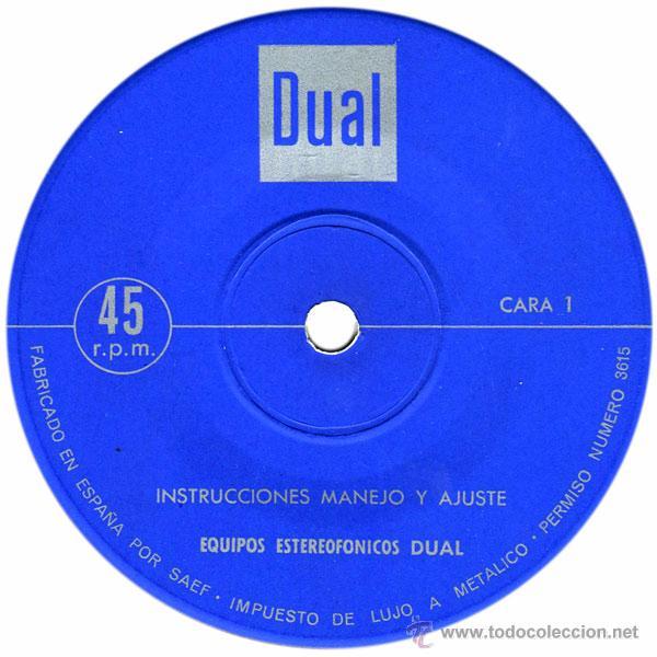 Discos de vinilo: Instrucciones Manejo Y Ajuste Equipos Estereofónicos Dual - Sg Spain - Industrias Bettor, S.A. - Foto 3 - 51198187