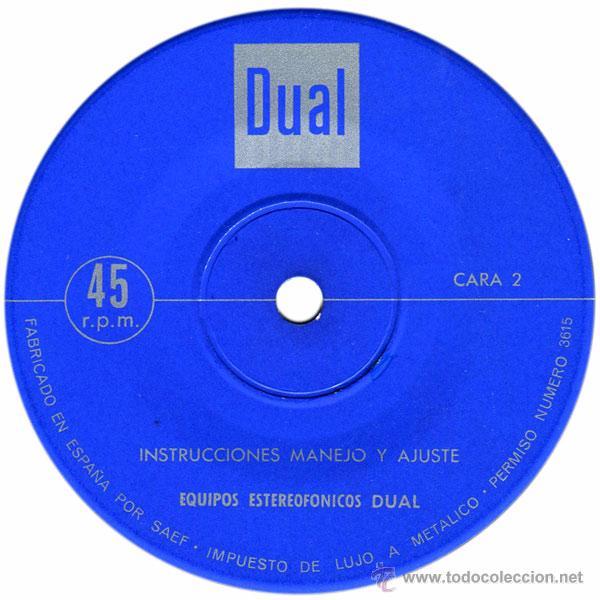 Discos de vinilo: Instrucciones Manejo Y Ajuste Equipos Estereofónicos Dual - Sg Spain - Industrias Bettor, S.A. - Foto 4 - 51198187