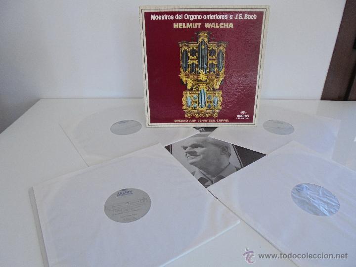 MAESTROS DEL ORGANO ANTERIORES A J.S.BACH. HELMUT WALCHA. 4 DISCOS MAS LIBRETO. VER FOTOGRAFIAS. (Música - Discos - Singles Vinilo - Clásica, Ópera, Zarzuela y Marchas)